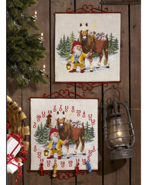 Wandbehang Wichtel mit Pferd