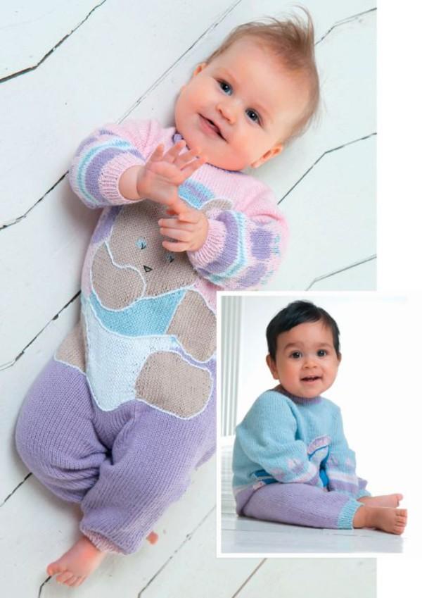Strikkeoppskrift Babydress