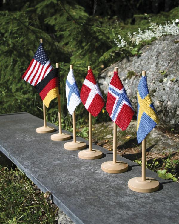 grytlapp och bordsflagga