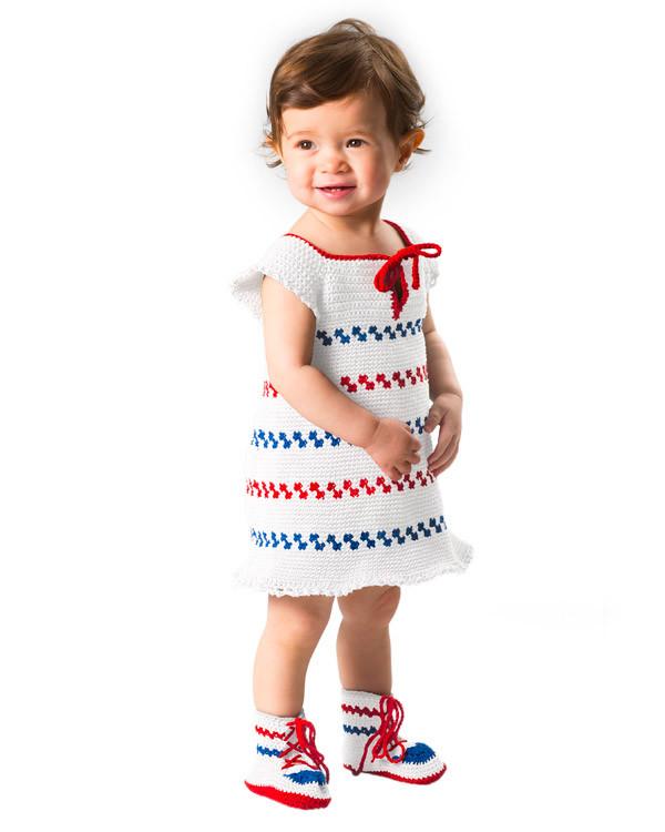 Virkad Pippiklänning och skor