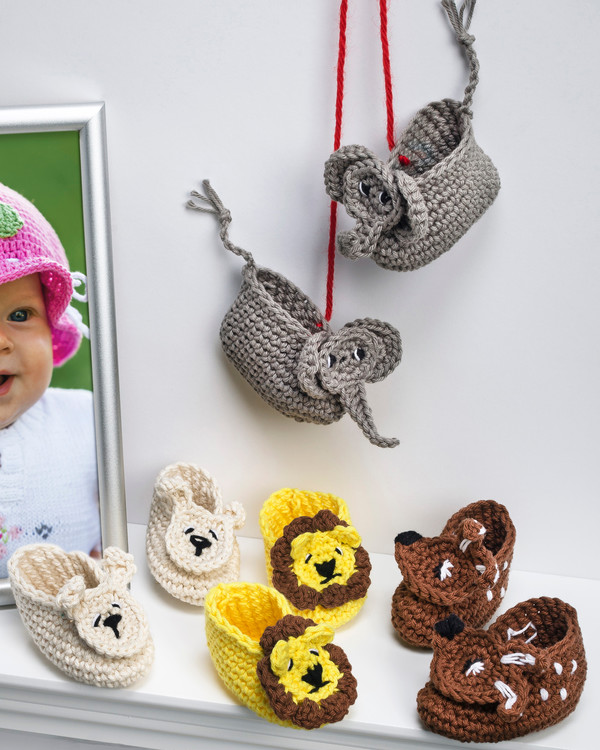 Babytofflor Djur