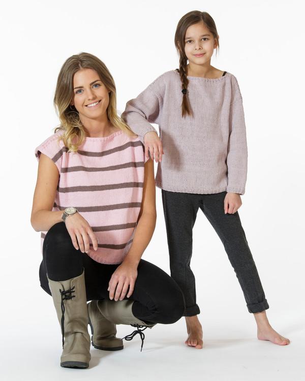 Topp, tröja och luvtröja till barn och dam
