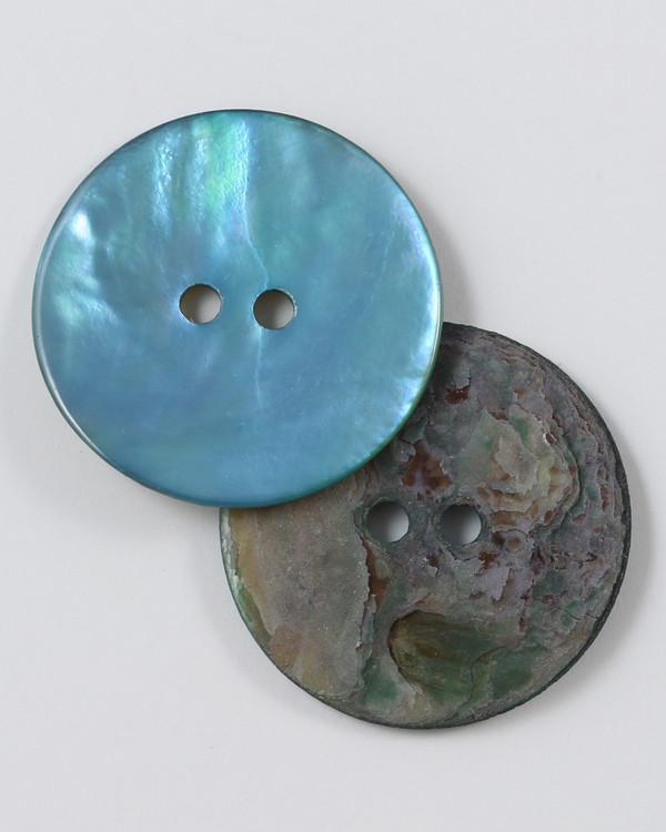 Knapp Perlemor blå
