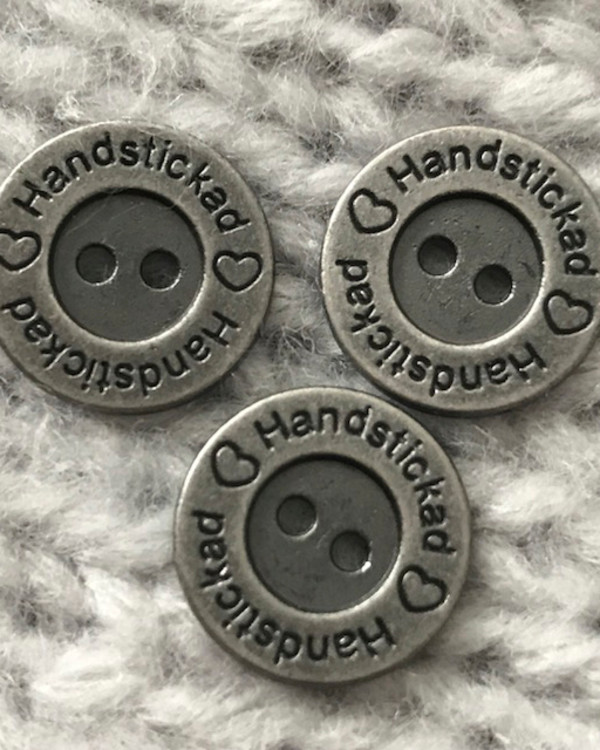 Metallknapp Handstickad 15 mm