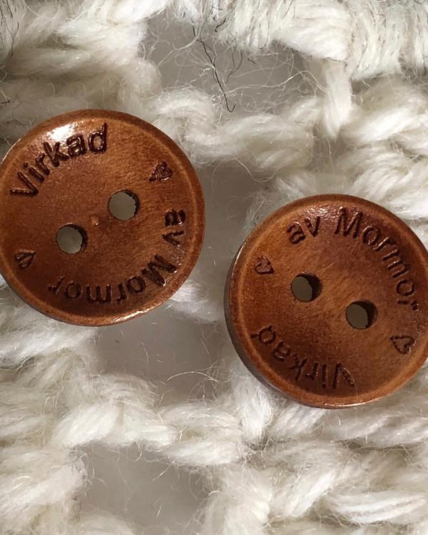 Träknapp Virkad av Mormor 15 mm