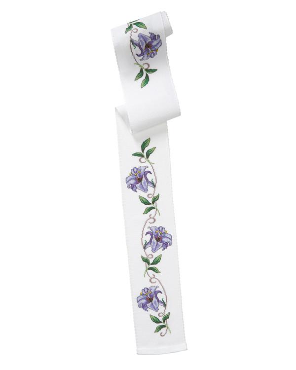 Broderikit Festremsa Lila blomster