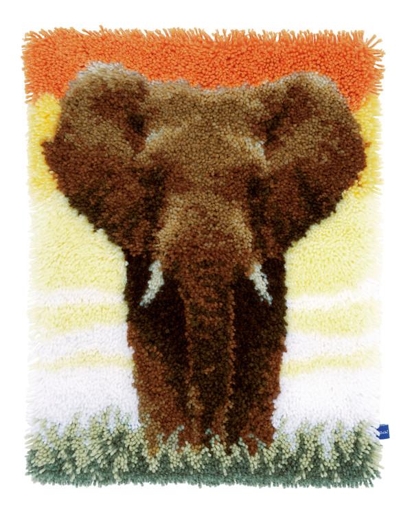 Ryatæppe Elefant