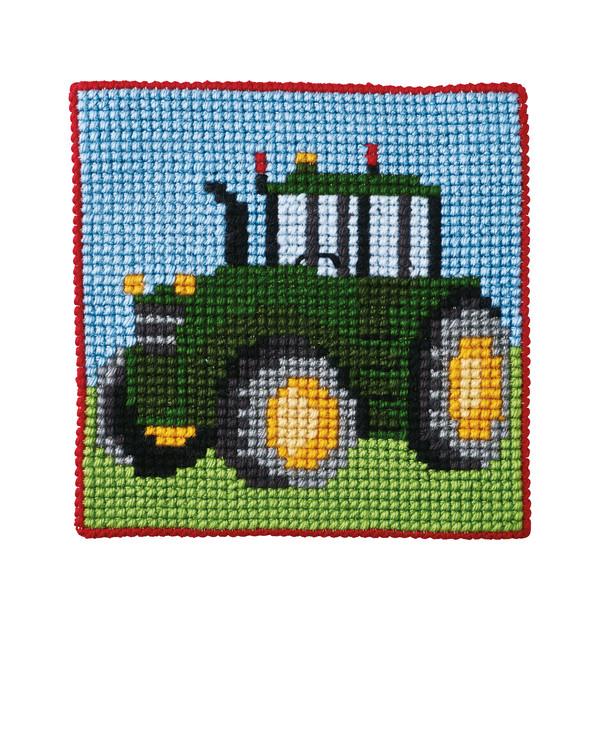 Straminbild Traktor