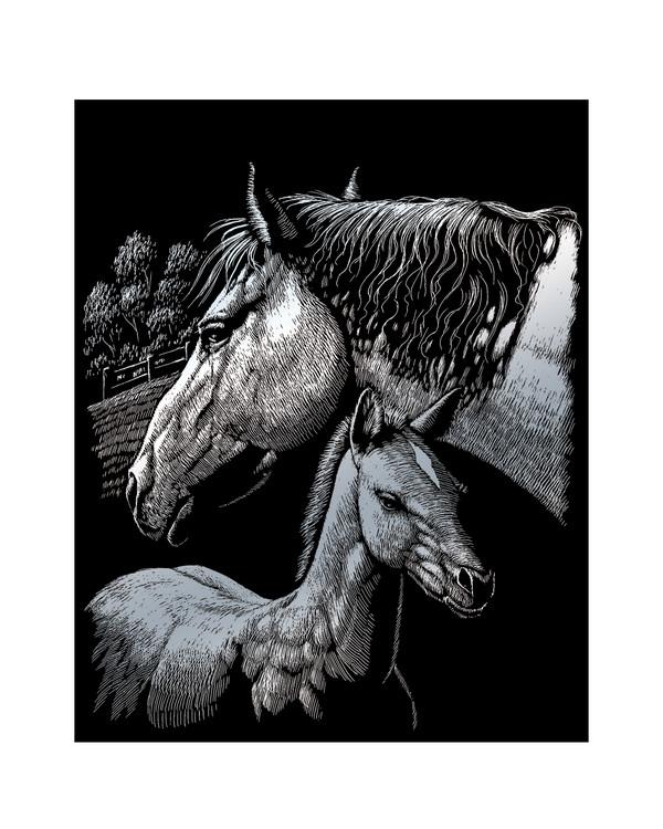 Scratch Art Heste