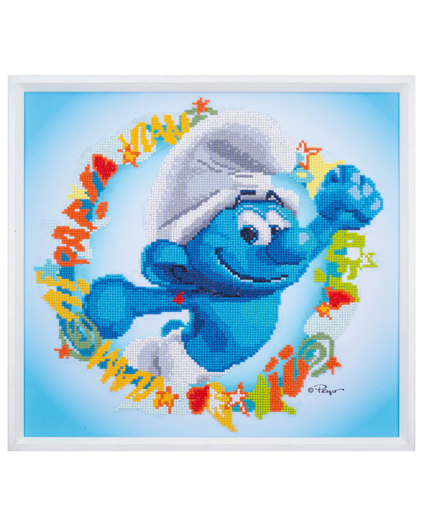 Diamond Painting Sterke-smurf