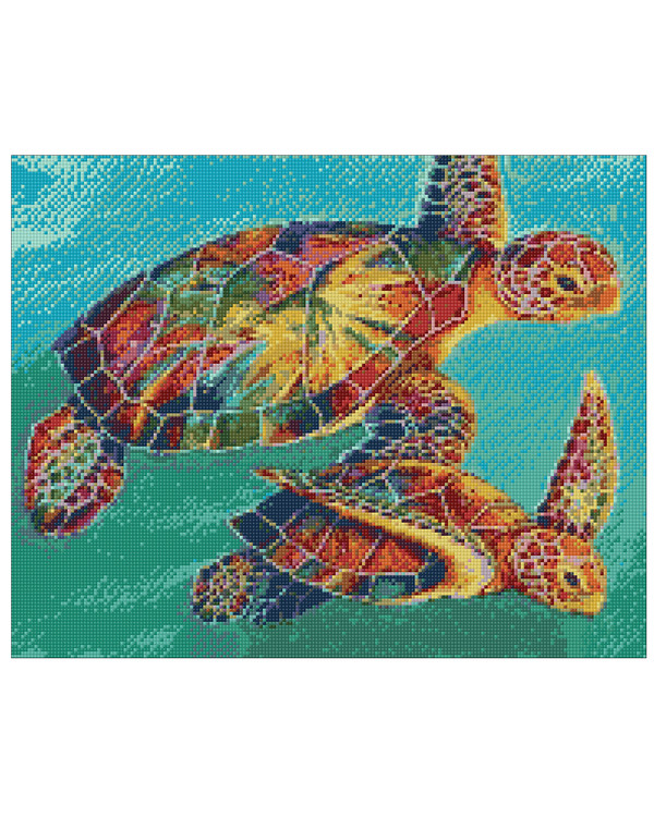 Diamond painting Skildpadder