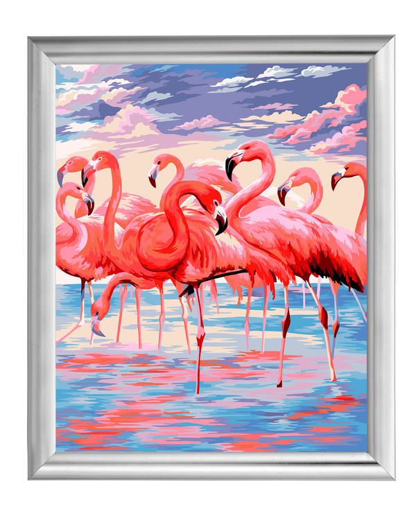 Paint by numbers Flamingoer