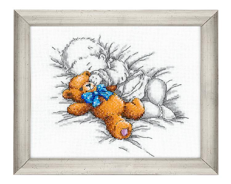Broderikit Tavla Baby med nallebjörn
