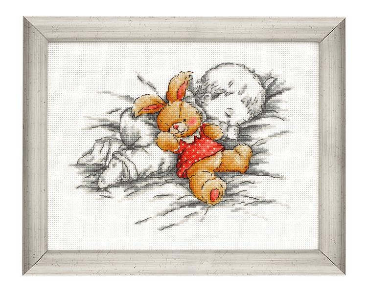 Bild Baby mit Hase