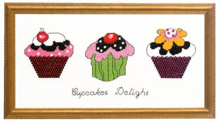 Broderikit Tavla Cupcakes