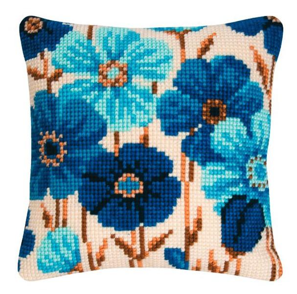 Kissen Blaue Blumen