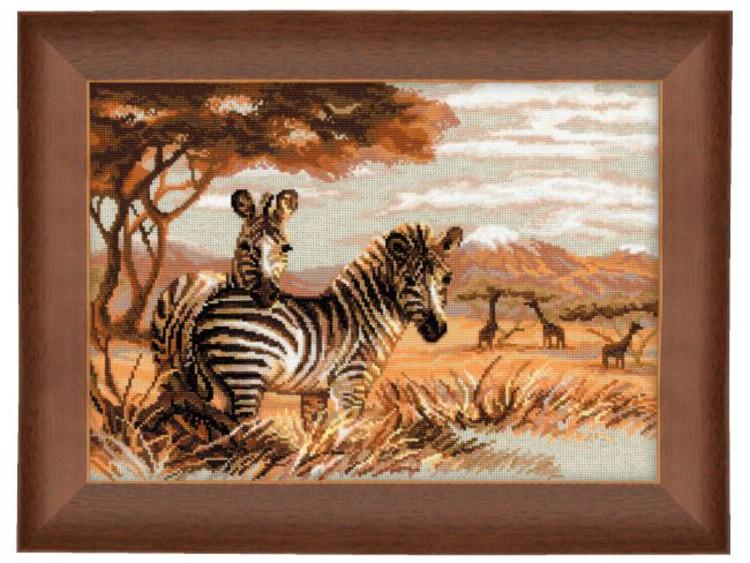 Broderikit Tavla Zebror på savannen