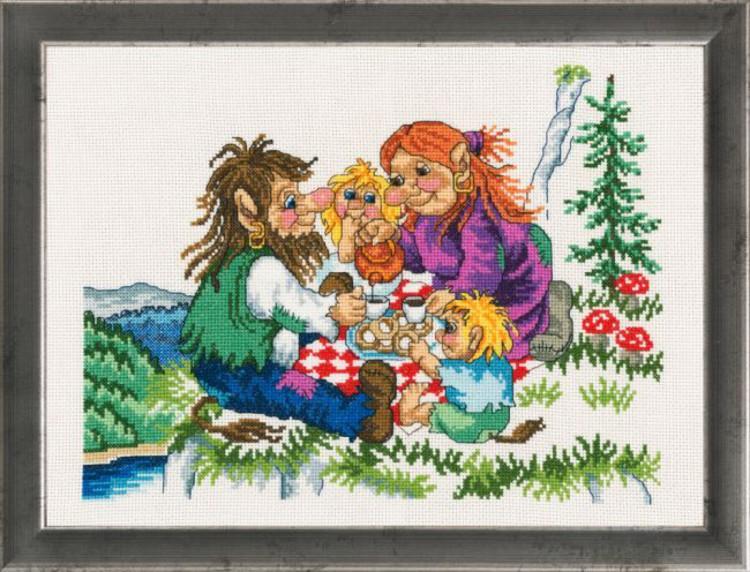Bild Trollfamilie beim Picknick