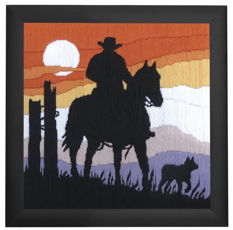 Broderikit Långstygn Cowboy