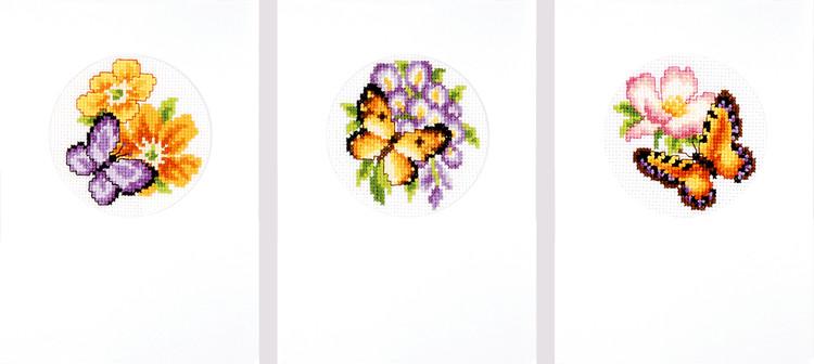 Karten Schmetterlinge 3-er Pack