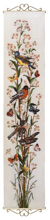 Seinävaate Linnut ja perhoset