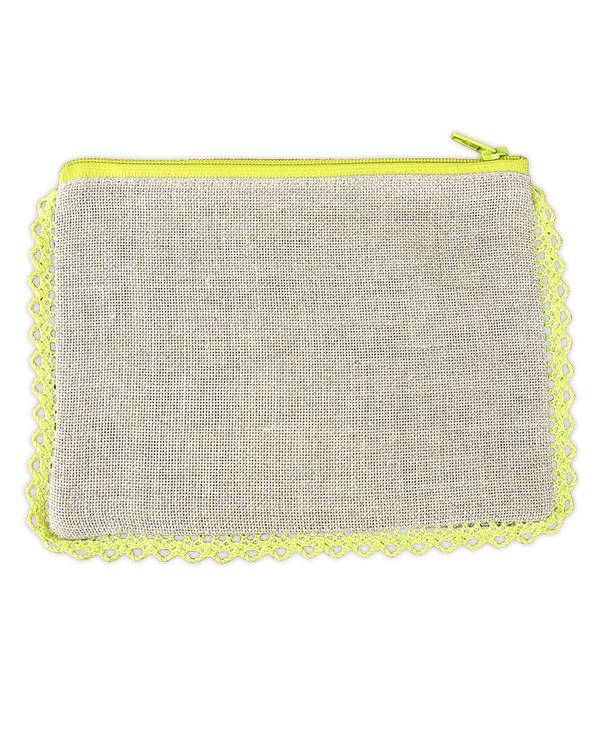 Börs oblekt linne/lime utan garn och mönster