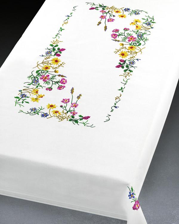 Decke Wiesenblumen mit oder ohne Garn