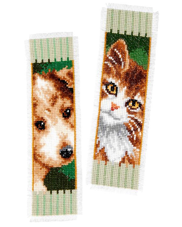 Bokmärke Hund och katt 2-pack