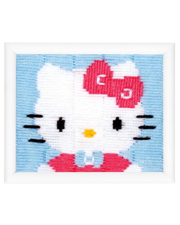 Pitkäpistotyö Hello Kitty