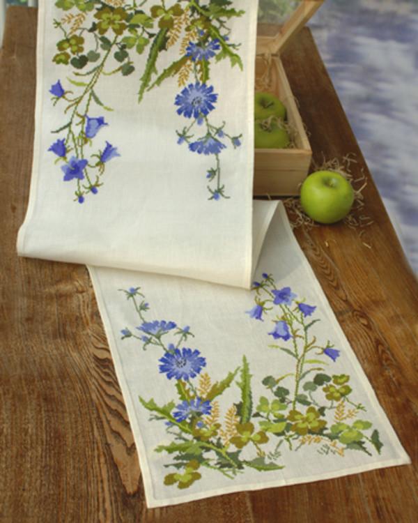Løper Blå blomster
