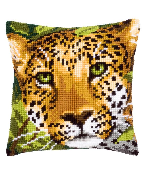 Broderikit Kudde Leopard