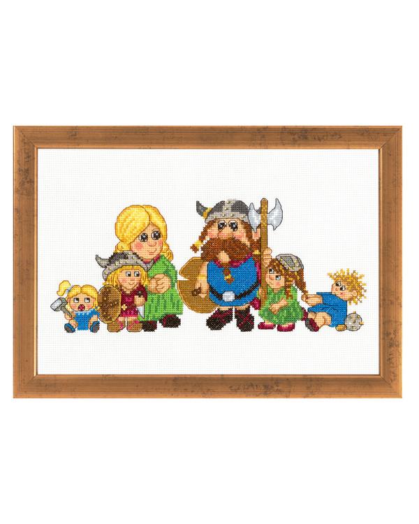 Bild Wikingerfamilie