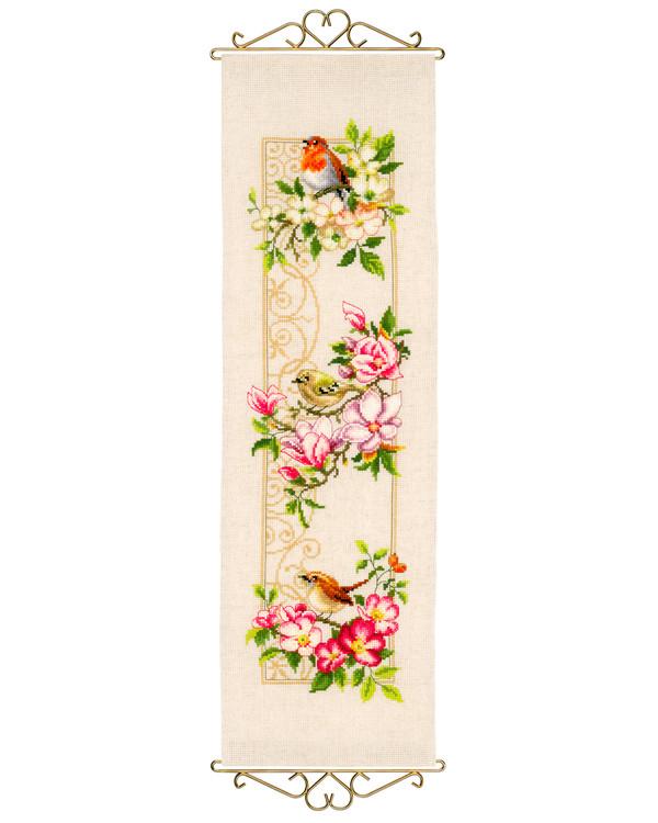 Wandbehang Vögel & Blumen