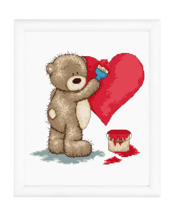 Broderikit Tavla Kärlekens färg