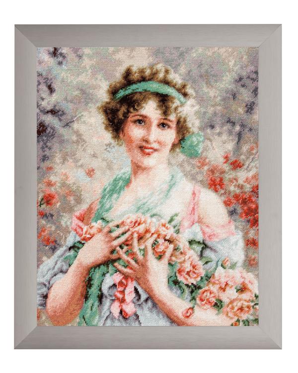 Bilde Jente med roser