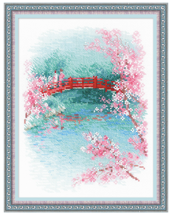 Broderikit Tavla Sakura Bridge