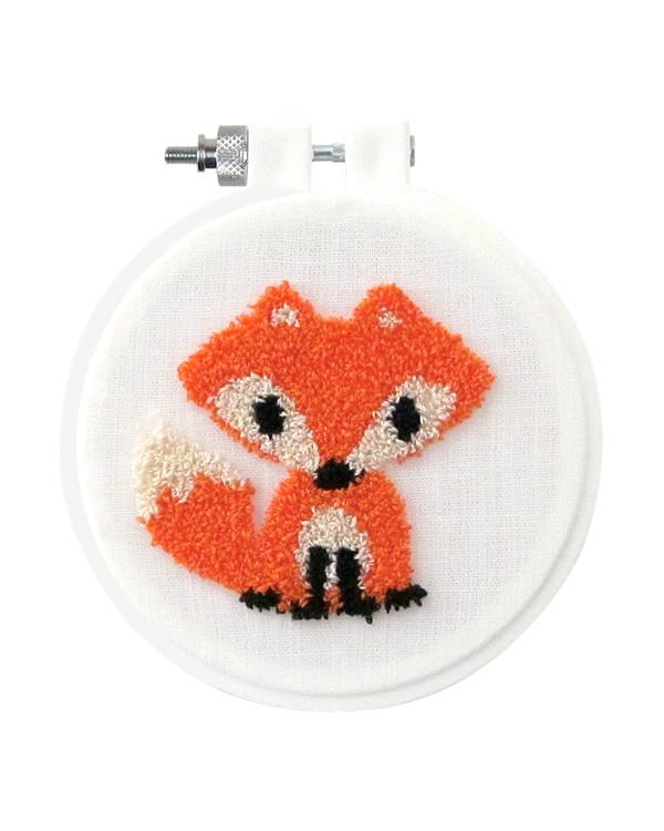 Punch needle kit Räv