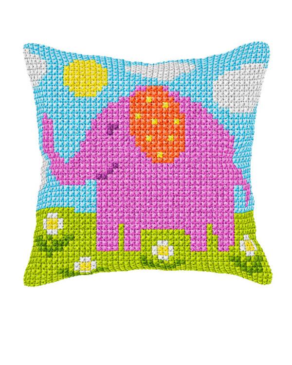 Tyynynpäällinen Roosa elefantti