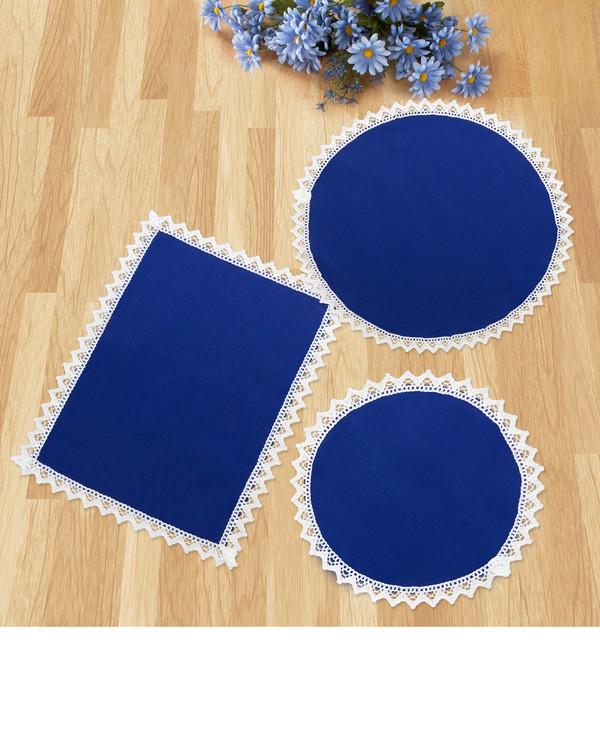 Dukset Doilies blå 3-pack