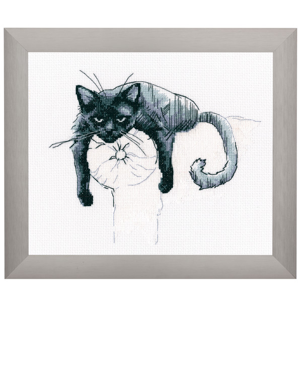 Broderikit Tavla Trött katt