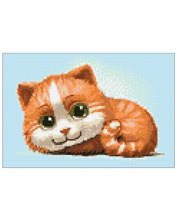 Diamond painting Rød kat
