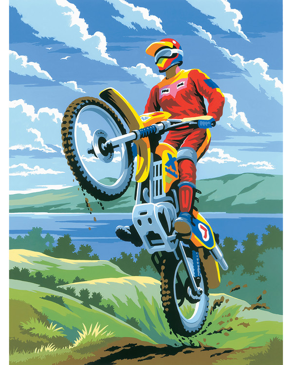 Paint by numbers Motocross