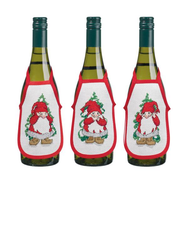 Broderipakke Flaskeforklær Tre vise nisser