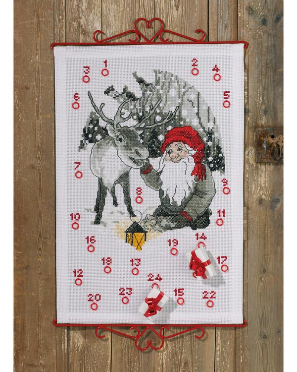 Broderipakke Kalender Nissens reinsdyr
