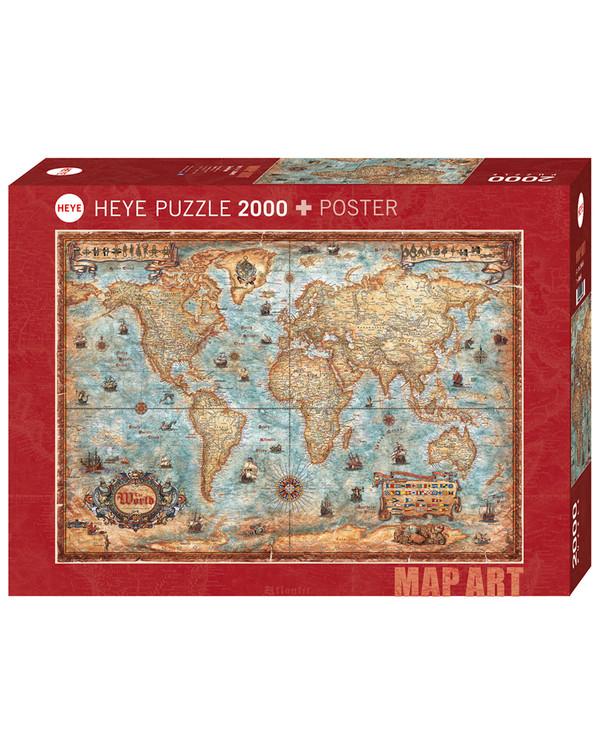 Pussel Världskartan 2000 bitar