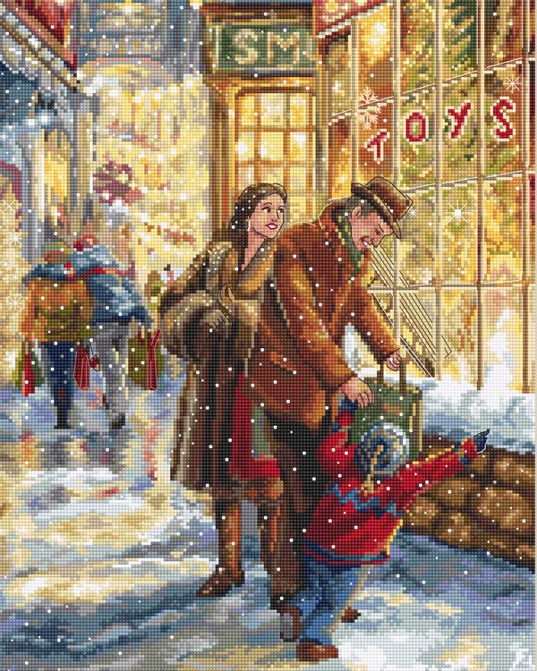 Broderikit Tavla Julens förväntningar