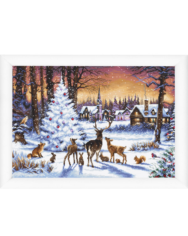 Broderipakke Bilde Jul i skogen