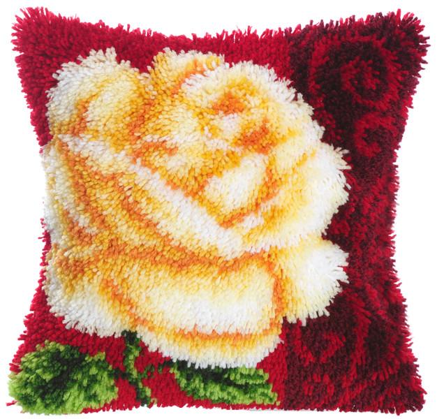 Knüpfkissen Rose