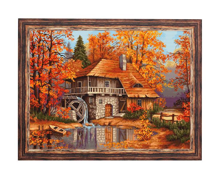 Bild Herbsttag bei der Wassermühle