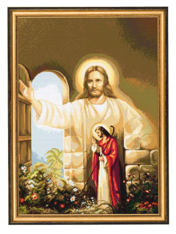 Broderikit Tavla Vid dörren